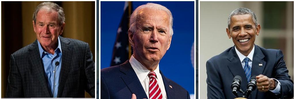 कोरोनाबाट सुरक्षित रहेको सन्देश दिन एकैसाथ खोप लगाउँदै तीन अमेरिकी पूर्वराष्ट्रपति