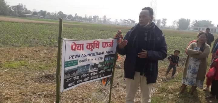 बौद्धिक युवा सेलिङ सहितको लगानीमा झापामा पेवा कृषि फर्म