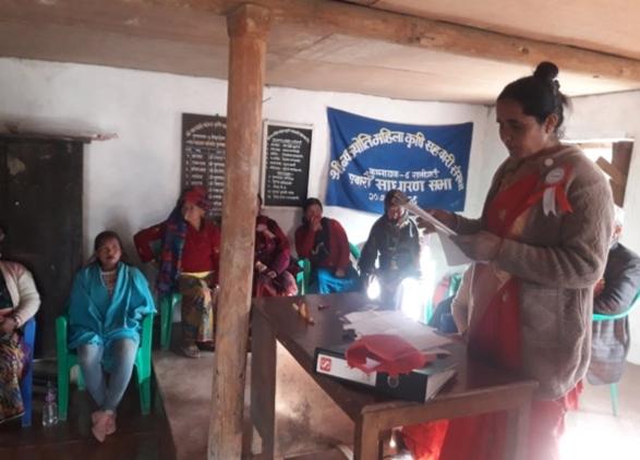 नवज्योति सहकारी तिङदेनको ११औं साधारणसभा सम्पन्न