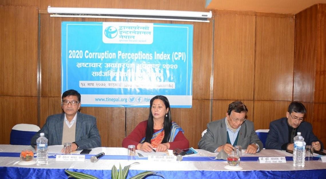 नेपालमा भ्रष्टाचार बढ्यो, नेपाल भ्रष्टाचार हुने देशको ११७ औं नम्बरमा