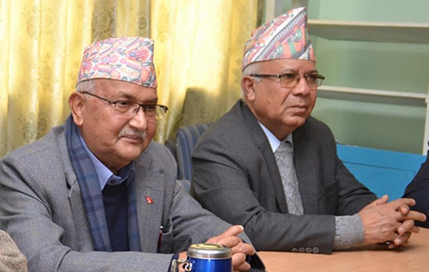 एमाले अध्यक्ष ओली र नेता नेपालबीच दोस्रो भेटवार्ता, माधव नेपाललाई प्रधानमन्त्रीको अफर
