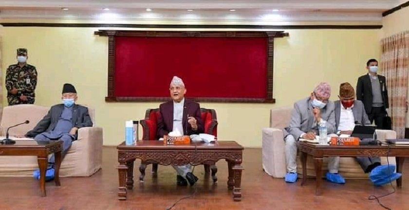 माधव नेपाल पक्षका ४ सांसद ओलीले बोलाएको बैठकमा