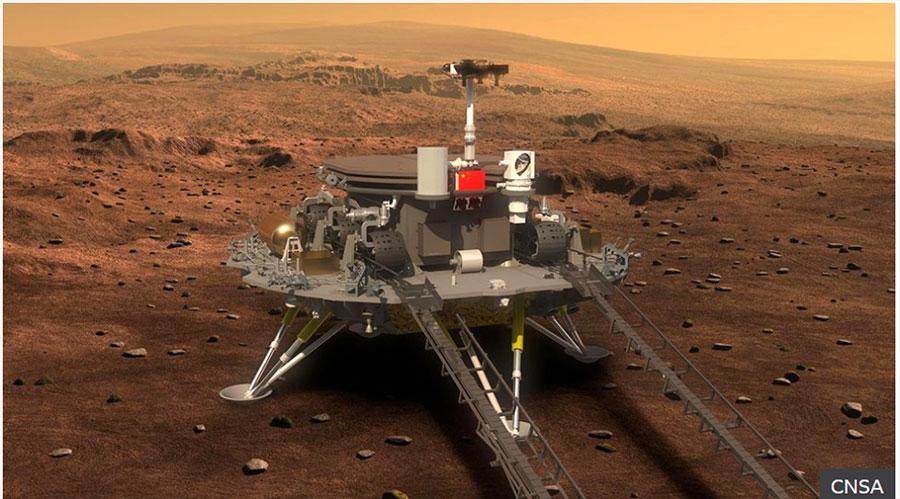 चीनको अन्तरिक्ष रोबोट मंगल ग्रहमा अवतरण