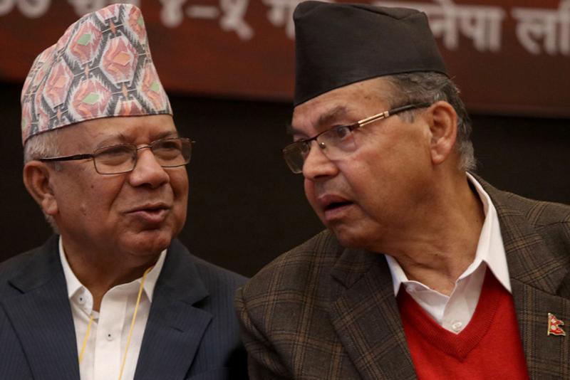 ओलीलाई 'लाल गद्दार' संज्ञा, खनाल नेपाल समुहले नयाँ पार्टी खोल्ने