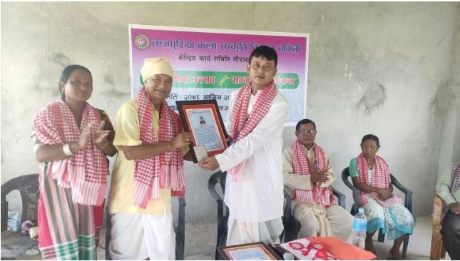 राष्ट्रिय कलाकार सिताराम ताजपुरिया सम्मानित